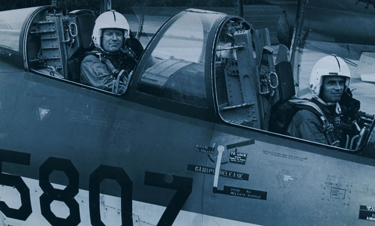 In de cockpit van een Starfighter. Volkel, 1970.