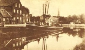 De haven van Veghel in 1915