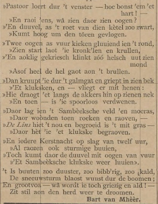 De legende in dichtvorm (Boxmeers Weekblad, 1896)